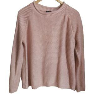 3/30$ SIMONS Soft Pink Loose Knit Crewneck Sweater